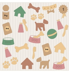 Dog pattern vector