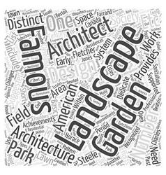 Famous landscape architects word cloud concept vector