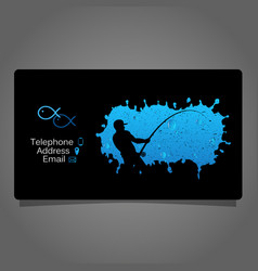 Fisherman visiting card concept vector