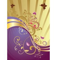 Golden floral background3 vector