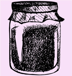 Jam glass jar vector