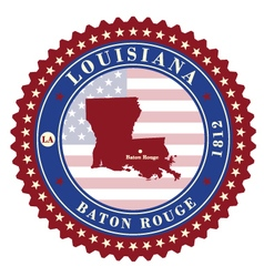 Label sticker cards of state louisiana usa vector