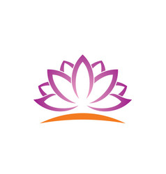 Lotus flower beauty logo vector