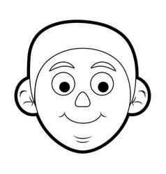 Man head vector