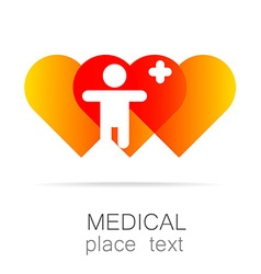 medical cross template logo vector image vector image