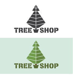 monochrome or colored tree logo emblem for vector image vector image