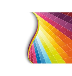 Multicolor geometrical background vector image