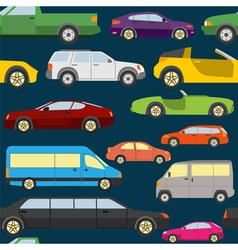 Passenger car background seamless vector
