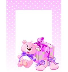 Pink bear vector