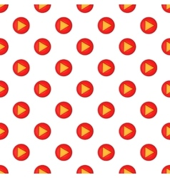 Play button pattern cartoon style vector