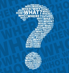 Question mark from Question words vector image vector image