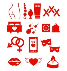 Set of Sex Shop Icons vector image