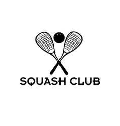 squash club vector image