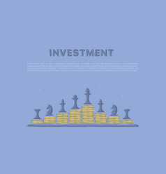 strategy of investment vector image vector image