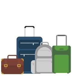 suitcase portfolio baggage luggage travel vector image