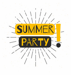 summer beach party poster background retro vector image vector image
