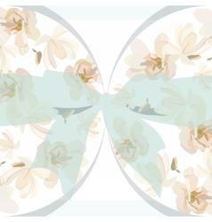 Vintage Watercolor Floral Card vector image