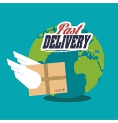 Package and delivery design vector