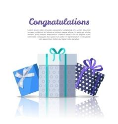 Congratulations Conceptual Web Banner in Flat vector image