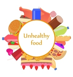 Mark sticker sign icon of unhealthy food vector