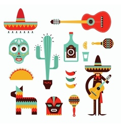 Mexico icons vector