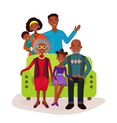 Relatives and happy family on sofa symbol vector