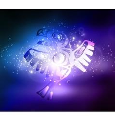 Totem bird indigenous art stylization vector