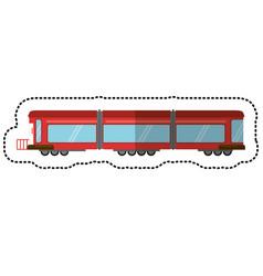 Train rail passenger transport shadow vector