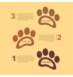 Footsteps infographic 2 vector