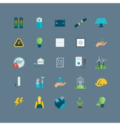 Power energy eco friendly icons vector
