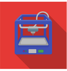 3d printer in flate style isolated on white vector