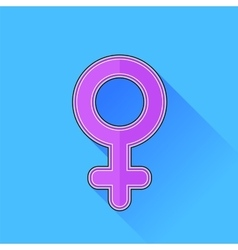 Female icon vector