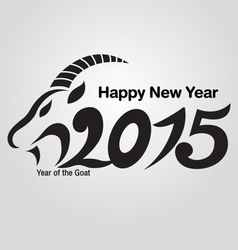 Holidays new year of the goat 2015 vector