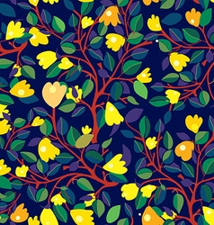 Floral seamless pattern with yellow flowers on vector image