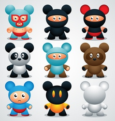 Designer toys vector