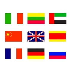 Flags of the world europe set 1 vector