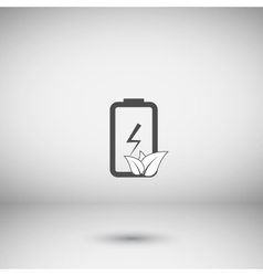 Flat paper cut style icon of eco friendly battery vector