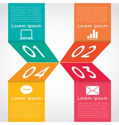 Abstract infographic vector