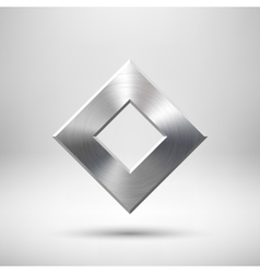 Abstract Rhombic Button Template vector image vector image