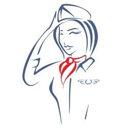 Air hostess vector image