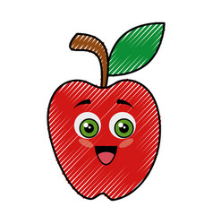 Apple funny cartoon vector