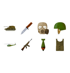 army and armament icons in set collection for vector image
