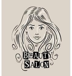 beauty salon logo design template vector image vector image