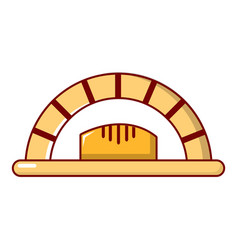 Bread oven icon cartoon style vector
