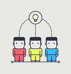 Characters created a collective idea vector