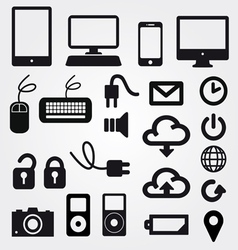 cloud app icon on mobile phone icons set vector image