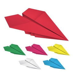 Colored paper airplanes vector image vector image