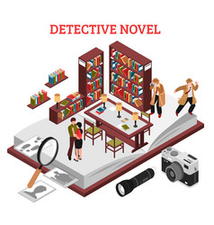 Detective novel design concept vector