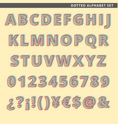 Dotted alphabet set vector