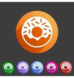 Doughnut donut icon flat web sign symbol logo vector